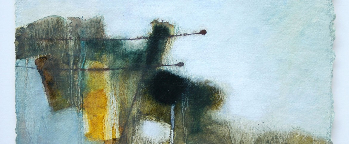 'Wet Bogland', mixed media on paper