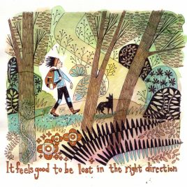 Lost in the right direction – Original illustration