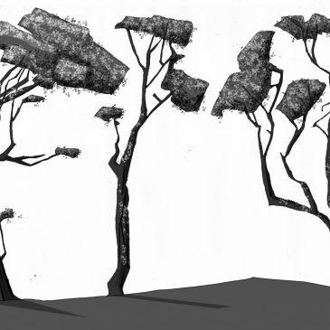 ParaNorman production design artwork – vegetation