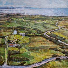 small farm on hill, west coast